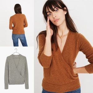 Madewell Faux Wrap Sweater